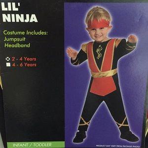 Other - Lil Ninja Toddler  Boys Jumpsuit Costume